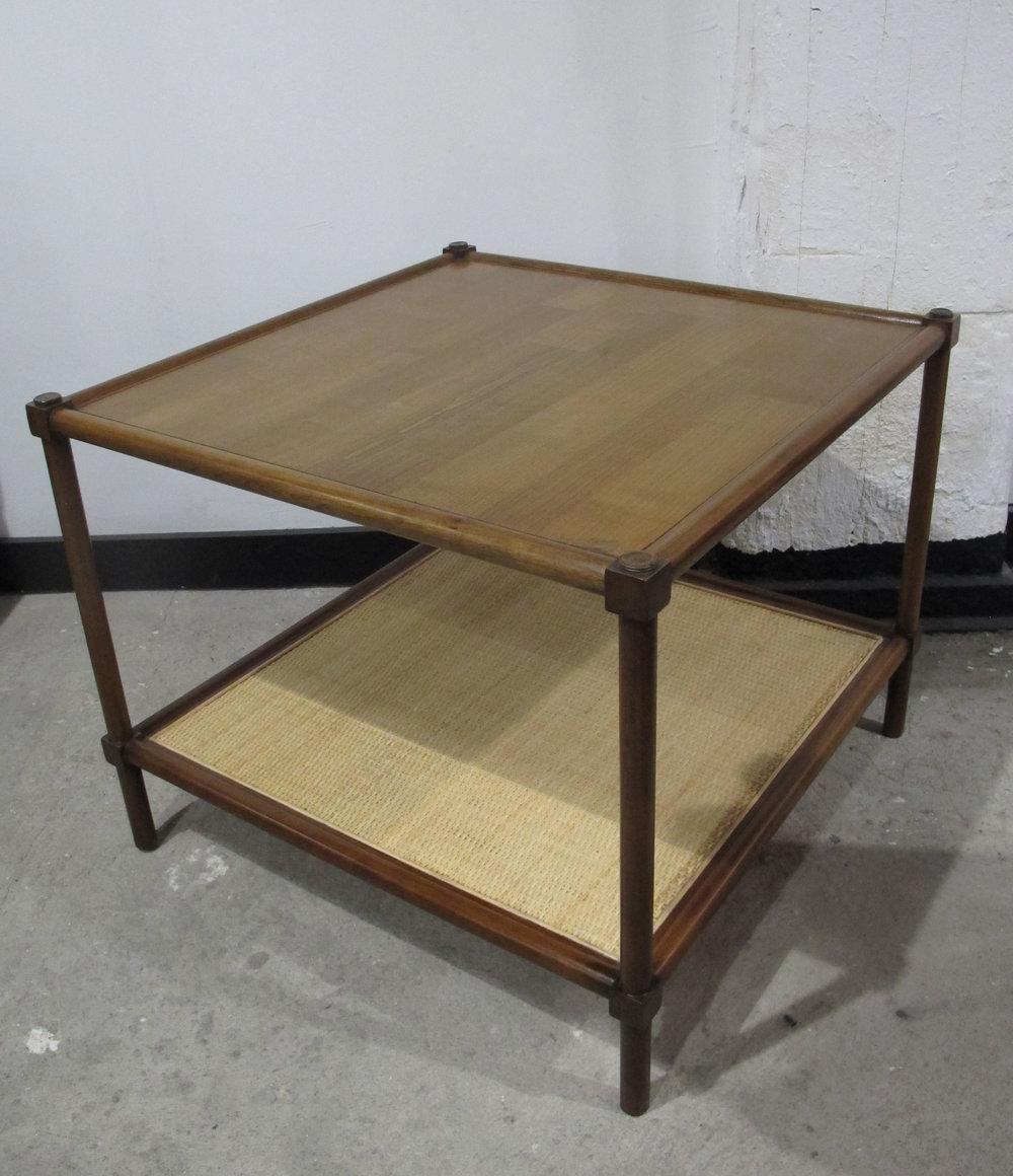 MID CENTURY ROBSJOHN GIBBINGS STYLE TWO-TIER SIDE TABLE