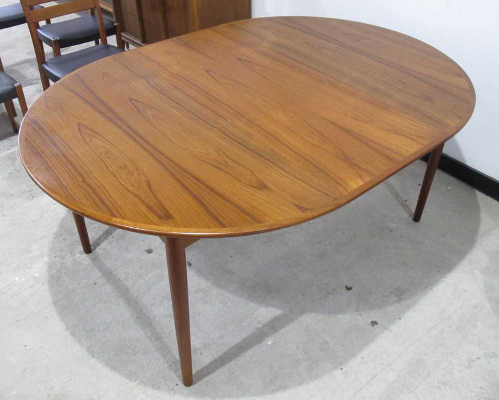 DANISH MODERN TEAK DINING TABLE BY BERNHARD PEDERSEN AND SONS