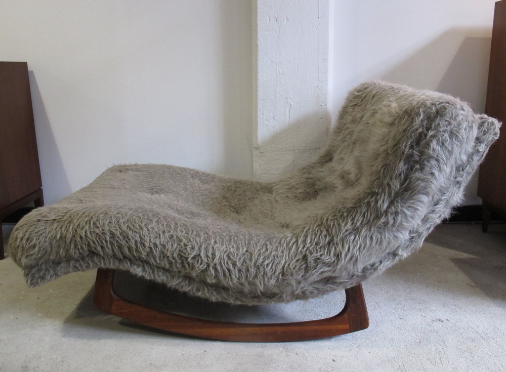 MID CENTURY ADRIAN PEARSALL WAVE LOUNGE CHAIR BY CRAFT ASSOCIATES
