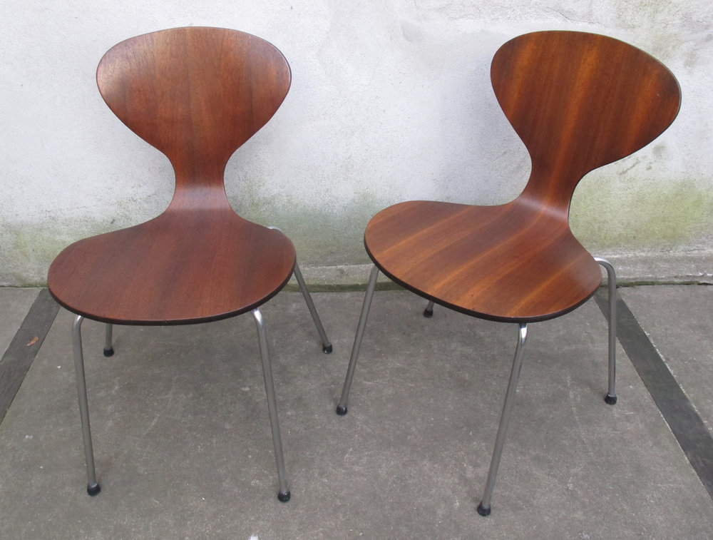 MID CENTURY BENTWOOD PLYCRAFT CHAIRS BY NORMAN CHERNER