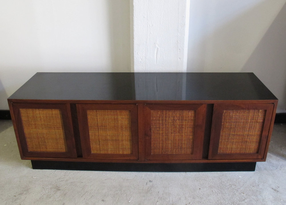 MID CENTURY PROBBER STYLE CONSOLE CABINET WITH VINYL RECORD STORAGE