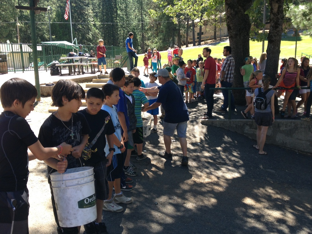 Kids planting together at Old Oak Ranch last week