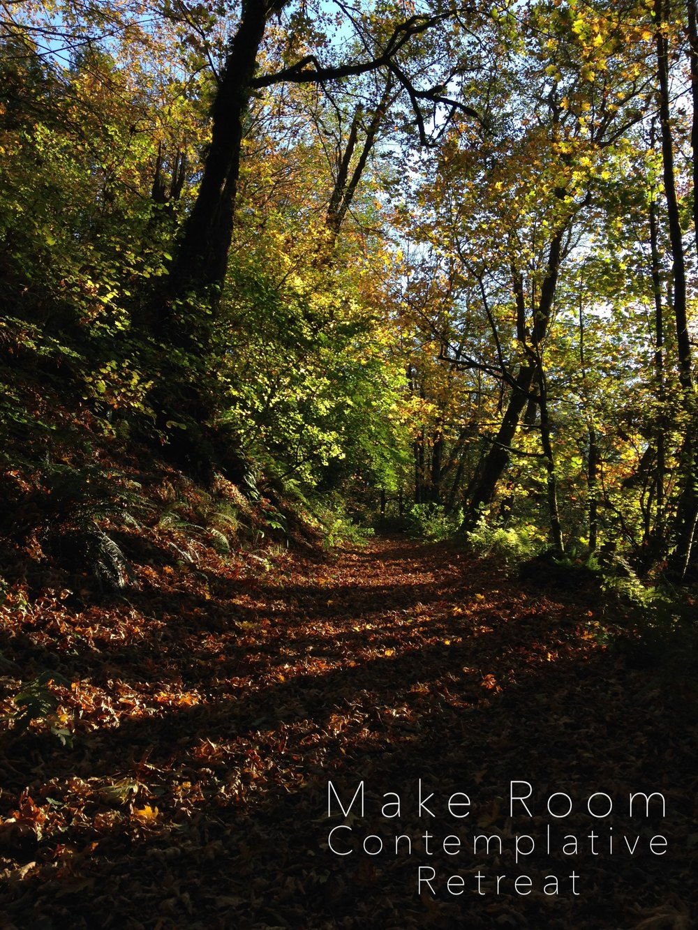 January 23-25 Make Room: A Contemplative Retreat at Koinonia Camp Grounds near Santa Cruz You're invited. Email me at josh@valleylife.org.