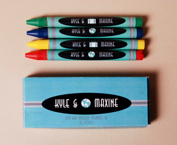 customized wedding crayons by cioprints