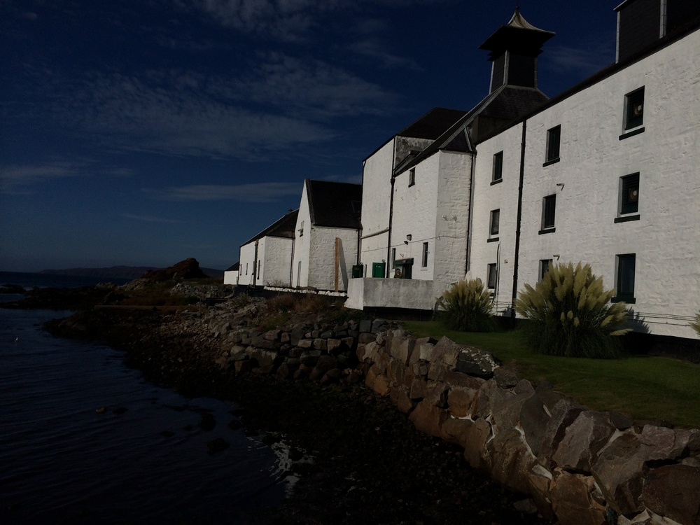 Beautiful Laphroaig distillery.