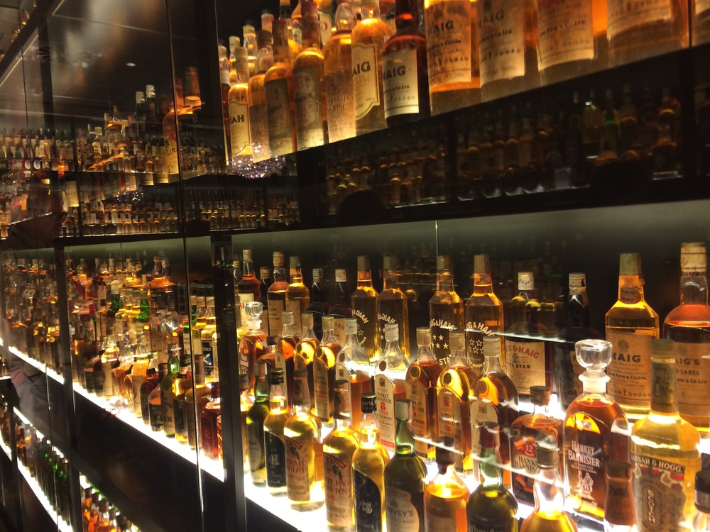 A small part of the world's biggest scotch collection.