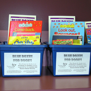 Blue Boxes for Books