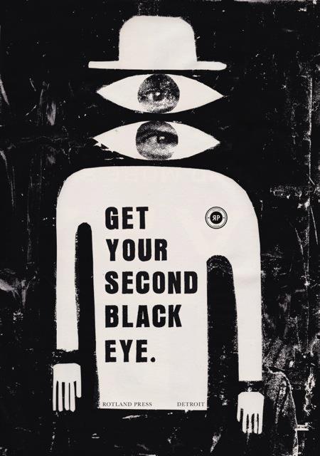 GET YOUR SECOND BLACK EYE Postcard 1