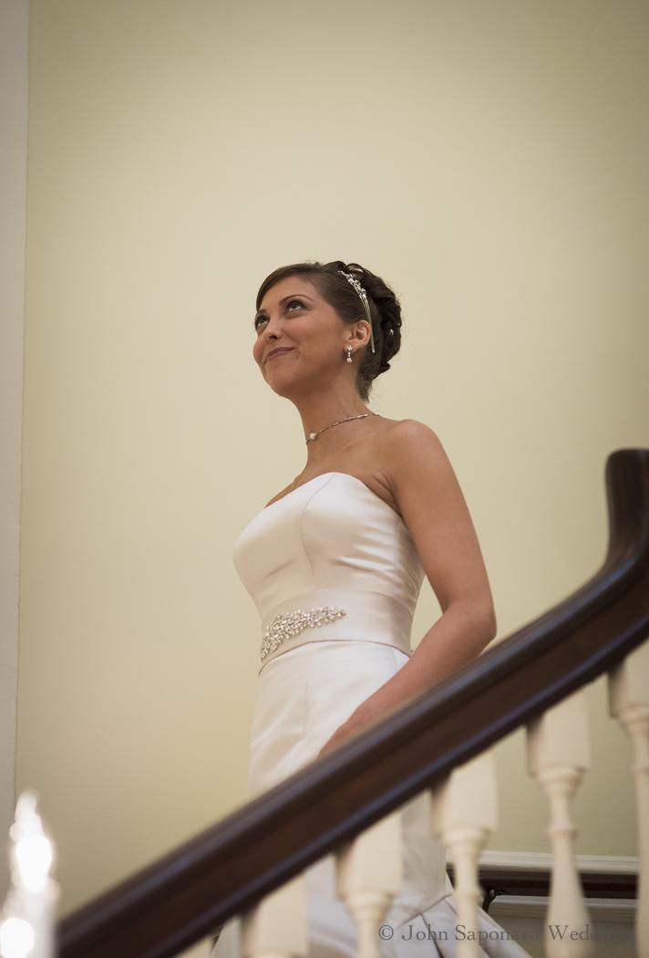 The bride enters