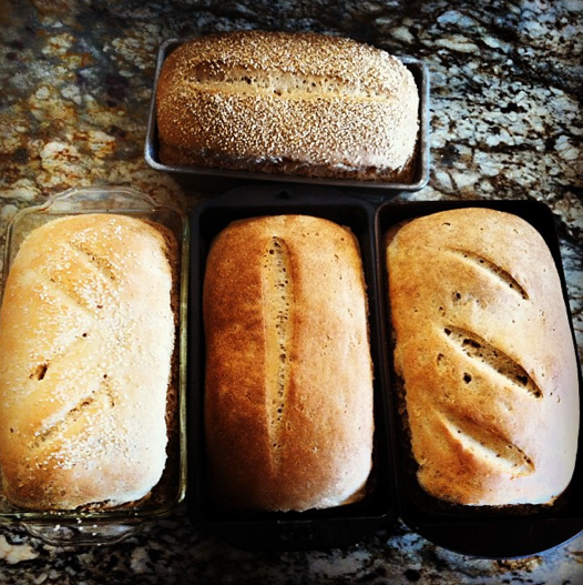 Ben's loaves - aren't they beautiful?