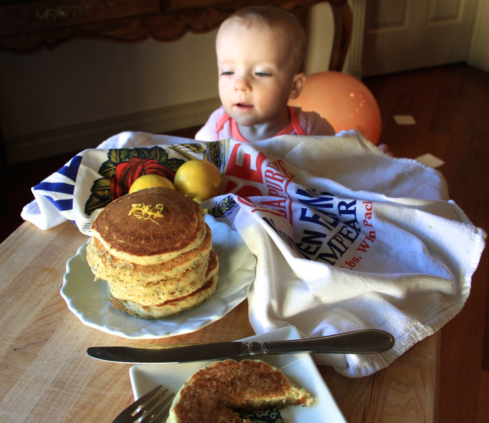 Grace Marie loved these pancakes so much she couldn't stay away from the photo shoot!