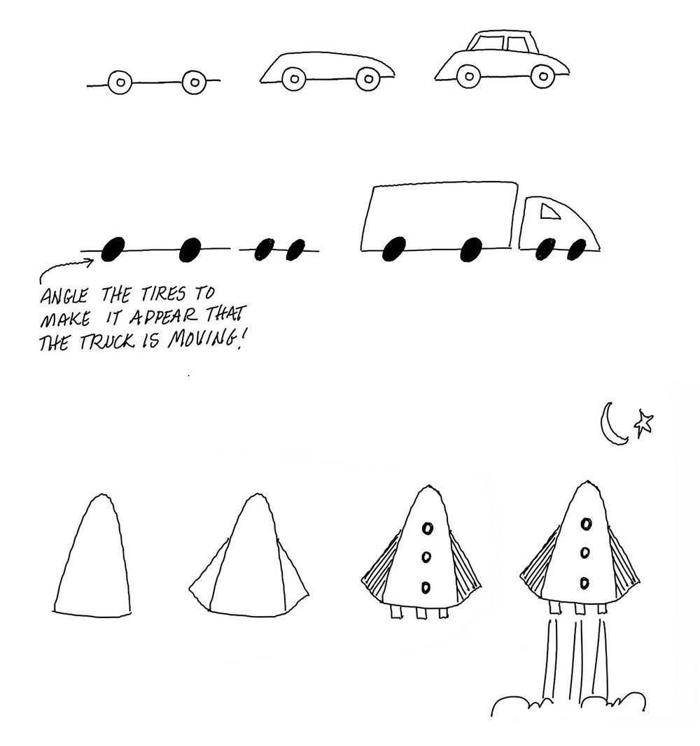 Simple Drawing Tip: Vehicles — Graphic Recording Studio