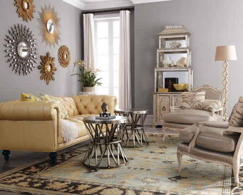 I love this picture, courtesy of www,refreshbydesign.com, showing the right way to mix metals in a space.