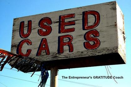 Sleazy used car salesmen?