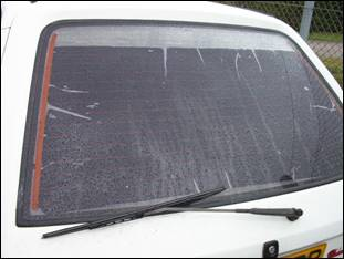 This is how NOT to tint windows! We can teach you how to do it correctly.