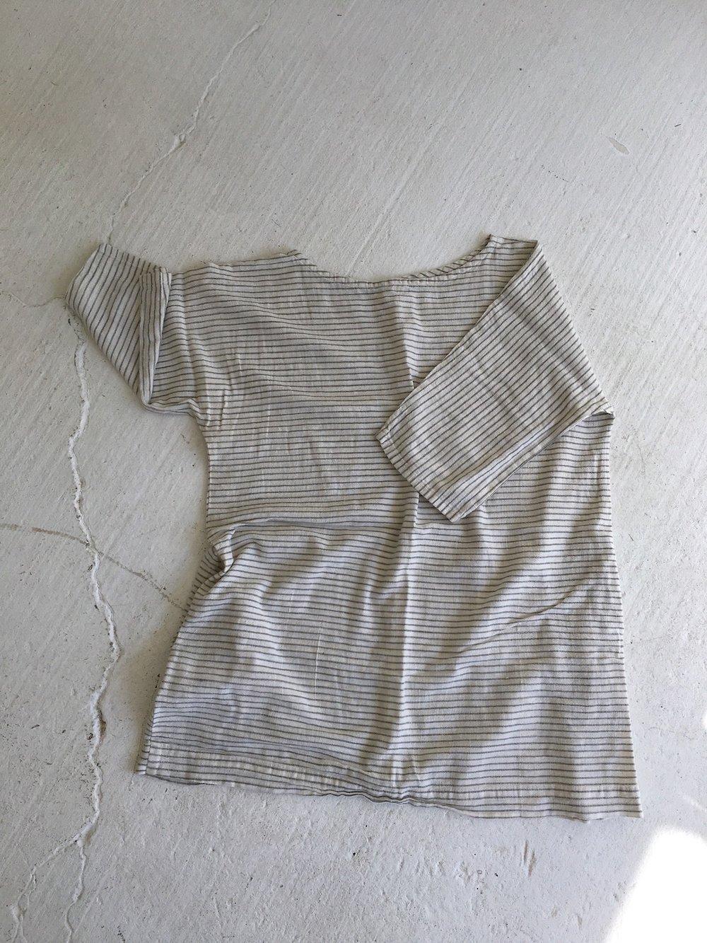 gray stripe tunic