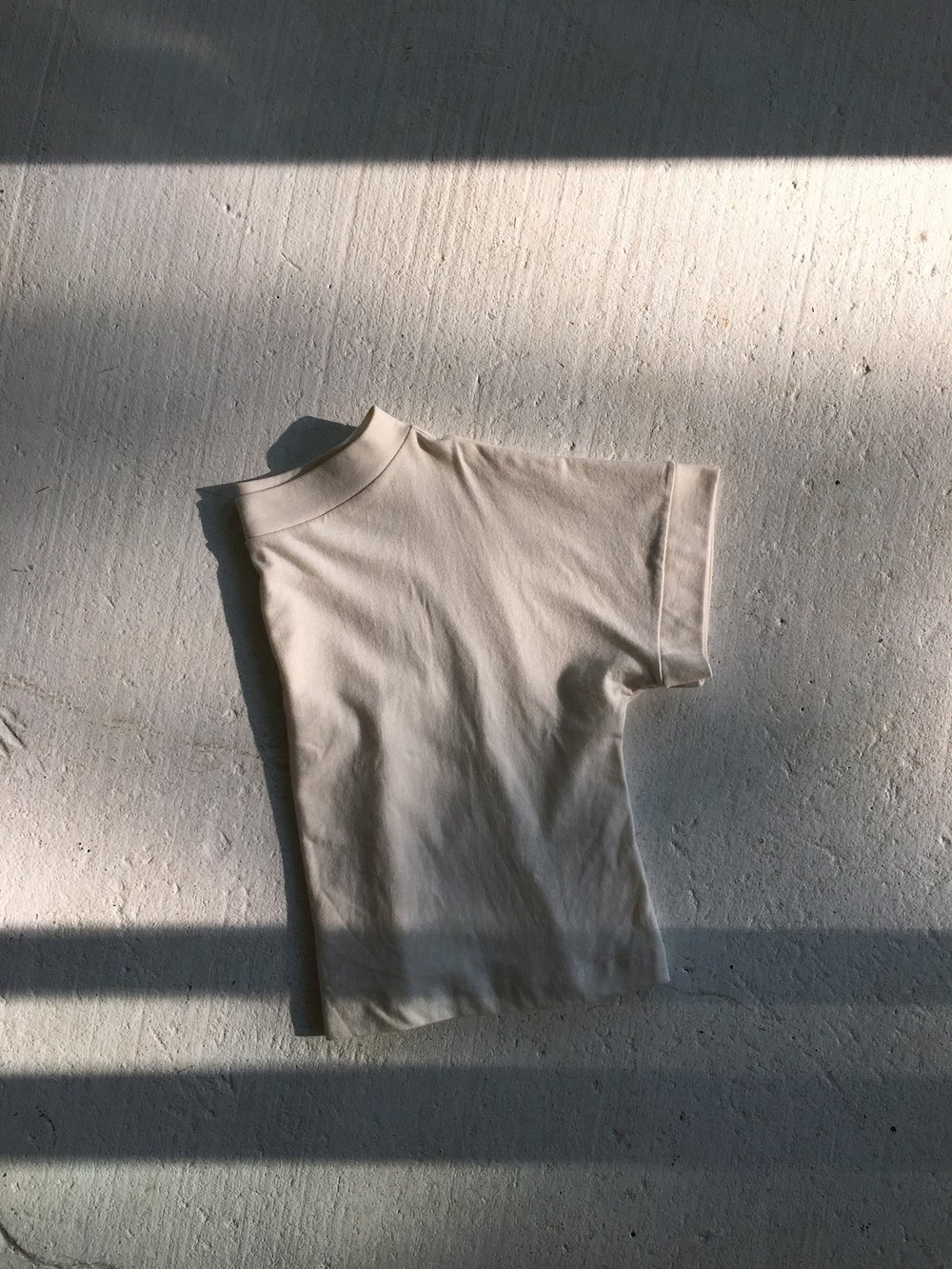jersey top in cream