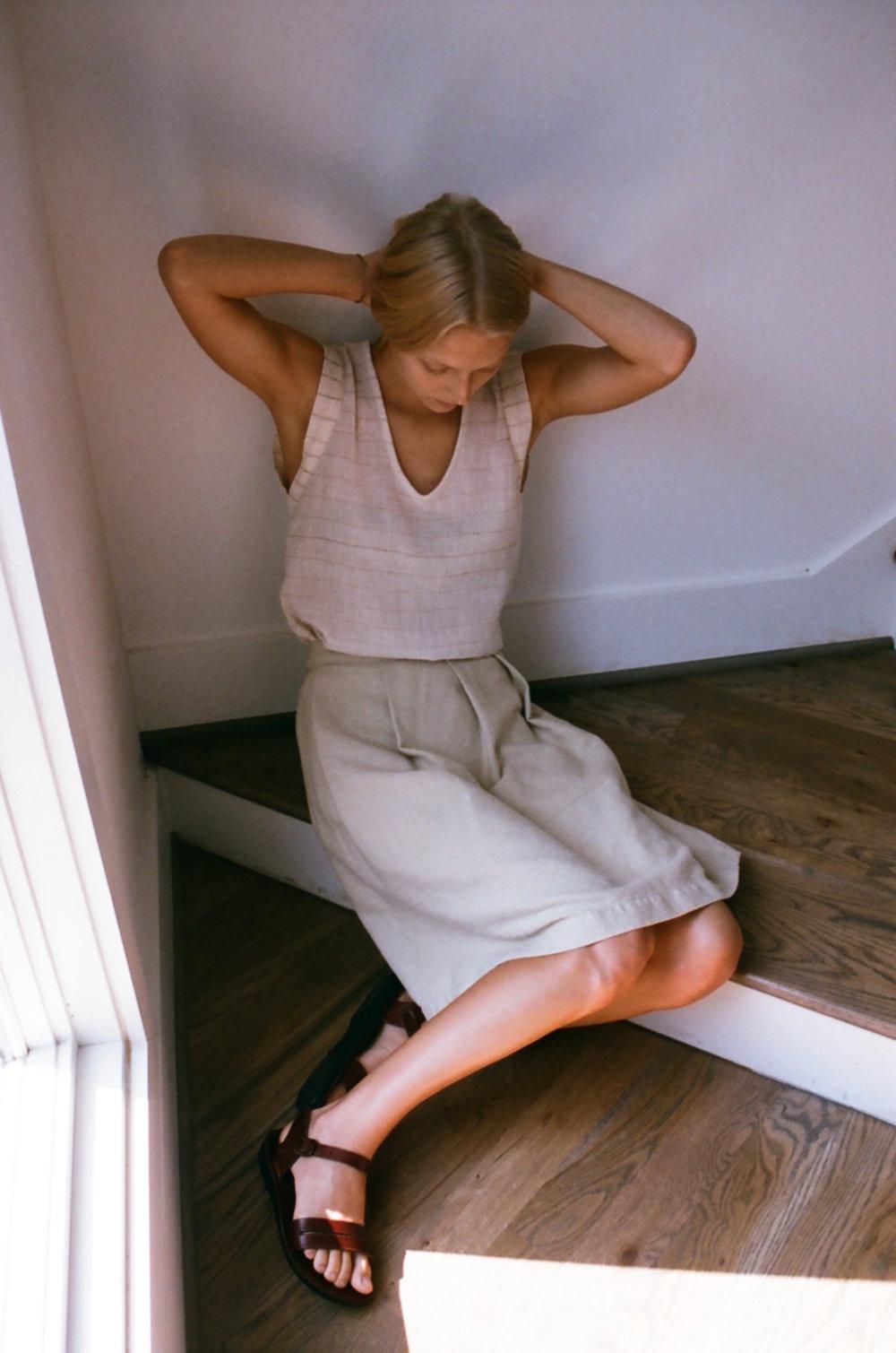 Han Starnes_Gold Stripe V Top, Color Grown Skirt_2.jpg