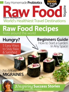 Featured on the cover of Raw Food Magazine