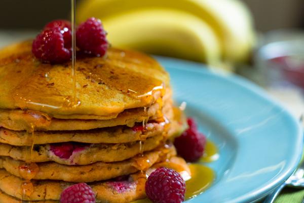 Raspberry Quinoa Pancakes