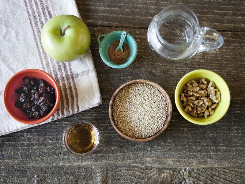 Hot Quinoa Apple Cinnamon Cereal - Ingredients