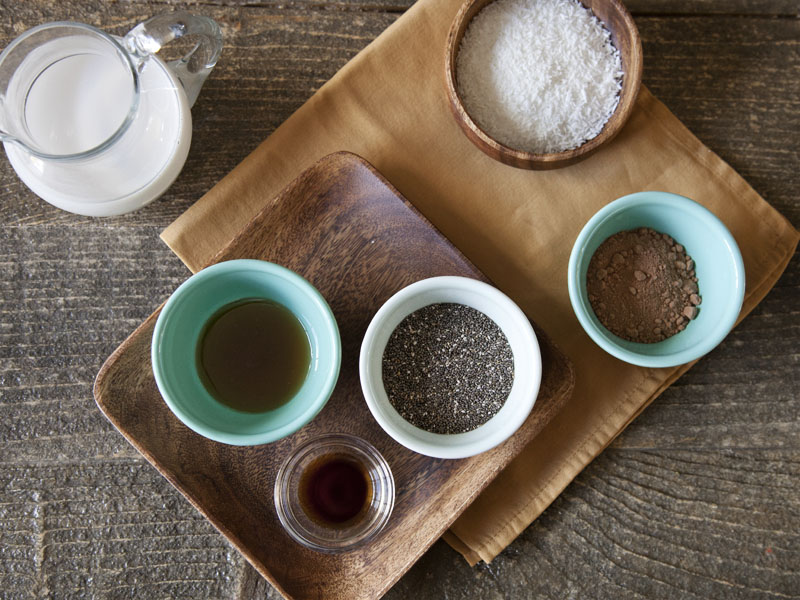 Chocolate Coconut Chia Seed Pudding - Ingredients