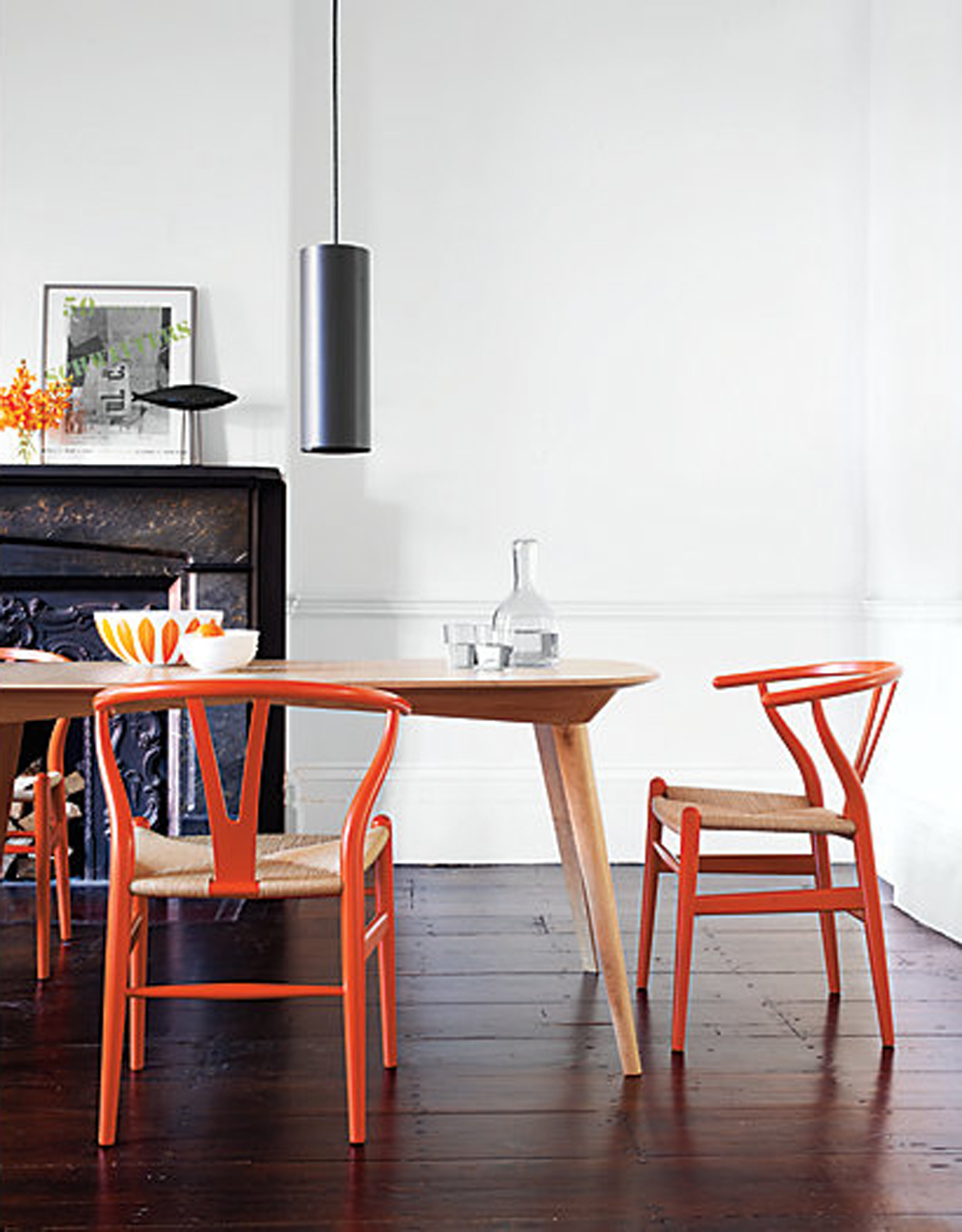 Farm table and chairs the place home for Wishbone chair table