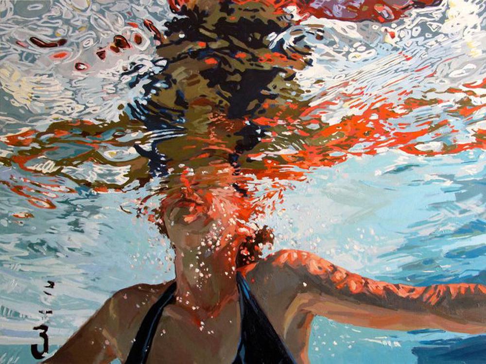 Samantha French, oil on canvas,  Three Feet Below , 2011