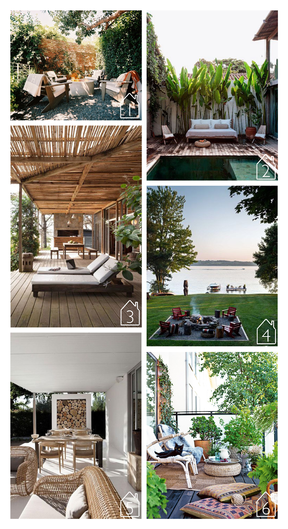 1. Via Style Files and Lonny Magazine  2. Via Style Files via Matthew Williams 3. Via Style Files by Martin Gomez Arquitectos 4. Thom Filicia's house via House Beautiful  5. Via Style Files  by Maison Estate  6. Via Elle Interior by Emma Persson Lagerberg photo by Petra Bindel