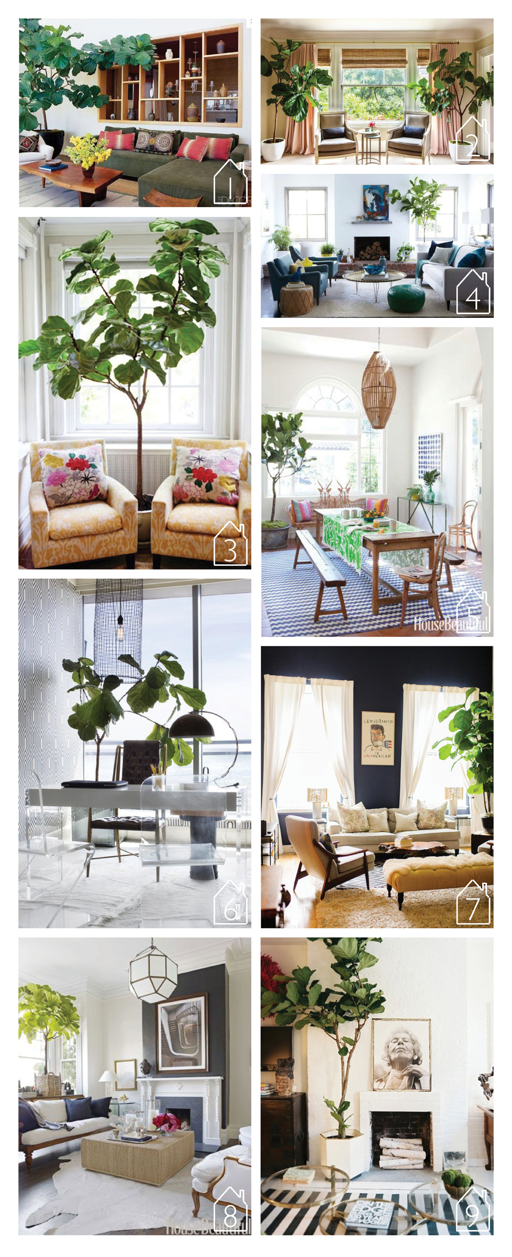 1. via  Elle Decor   2.  Chloe Warne r via  Lonny    3. by  Haddon Interiors   4. by  Emily Henderson  5. by  Nickey Kehoe  via  House Beautiful   6. by Lee Kleinhelter via  Lonny   7. Home of Lisa Salzer via  Glitter Guide   8. by  Ken Fulk  via  House Beautiful   9. by Anna Burke via  Lonny