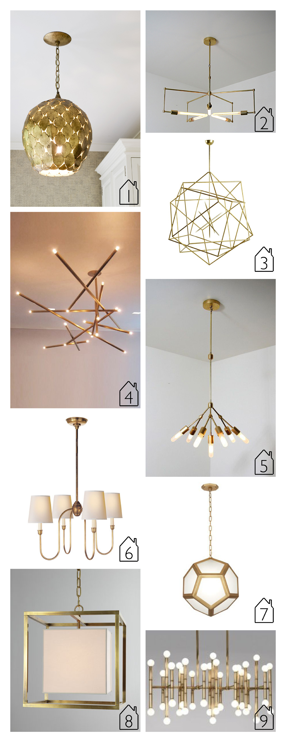 Brass lighting the place home 1 arteriors osgood pendant 2 asterix handmade brass pendant by studiopgrb via etsy 3 arubaitofo Images