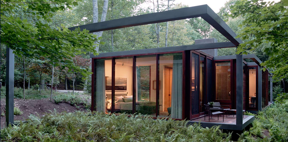 Home feature dutchess county residence guest house the place home - Casa de estructura metalica ...