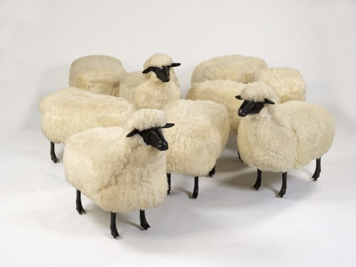 Les Lalannes sheep via Agent of Style