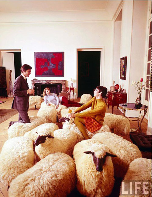 Lalanne sheep via Apartment Therapy