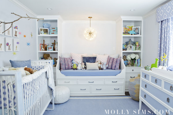 Molly Sim's nursery via  Lil Sugar