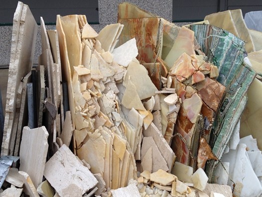 shards of marble from Budri's storage facility  via  Archiportale