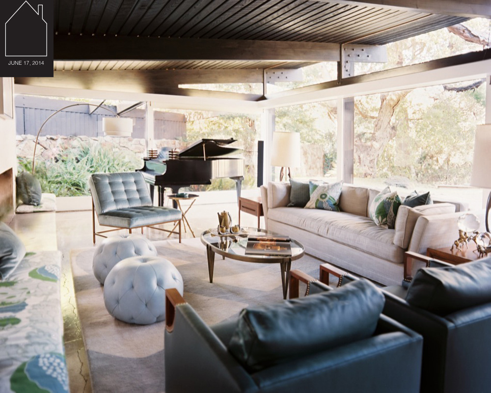 mid century modern  home design by  Hillary Thomas