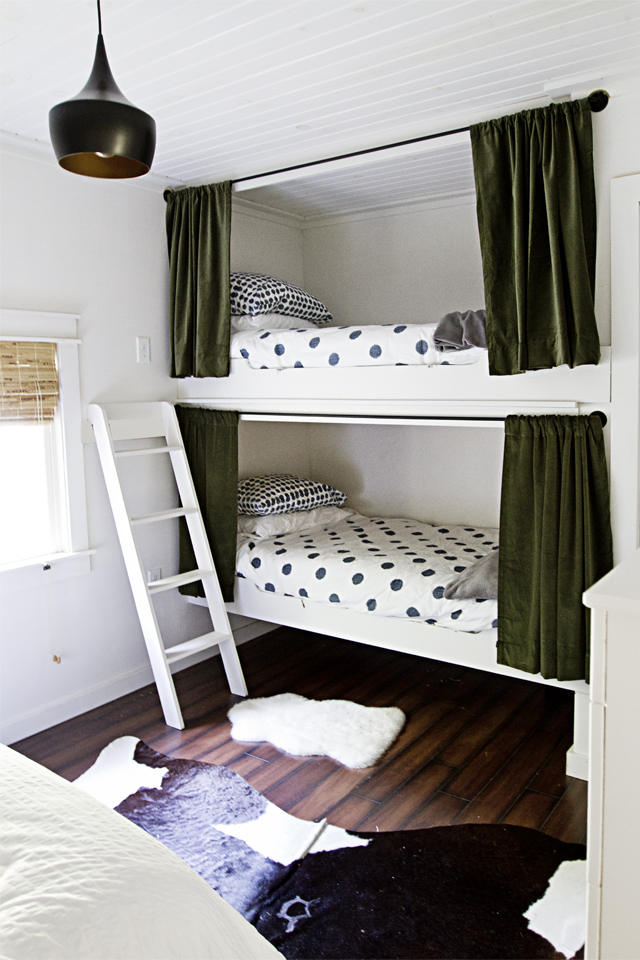 bunk beds in the bedroom via Smitten Studio