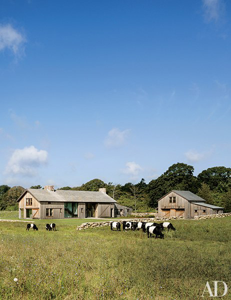 Grey Barn Farm designed by  Hutker Architects  via  Architectural Digest