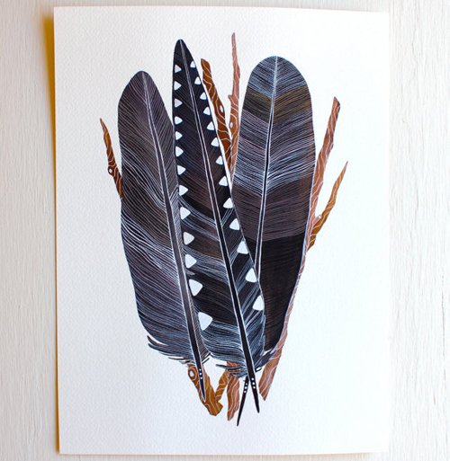 crow feather bundle  by  Marisa Redondo