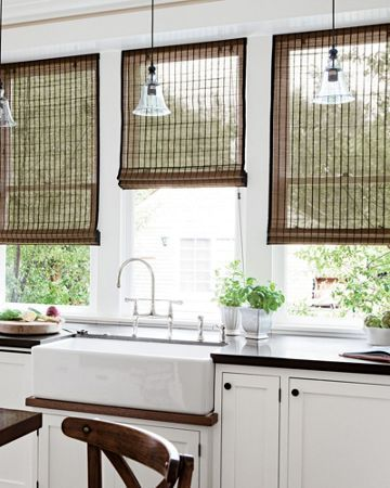 purchasing natural woven shades THE PLACE HOME