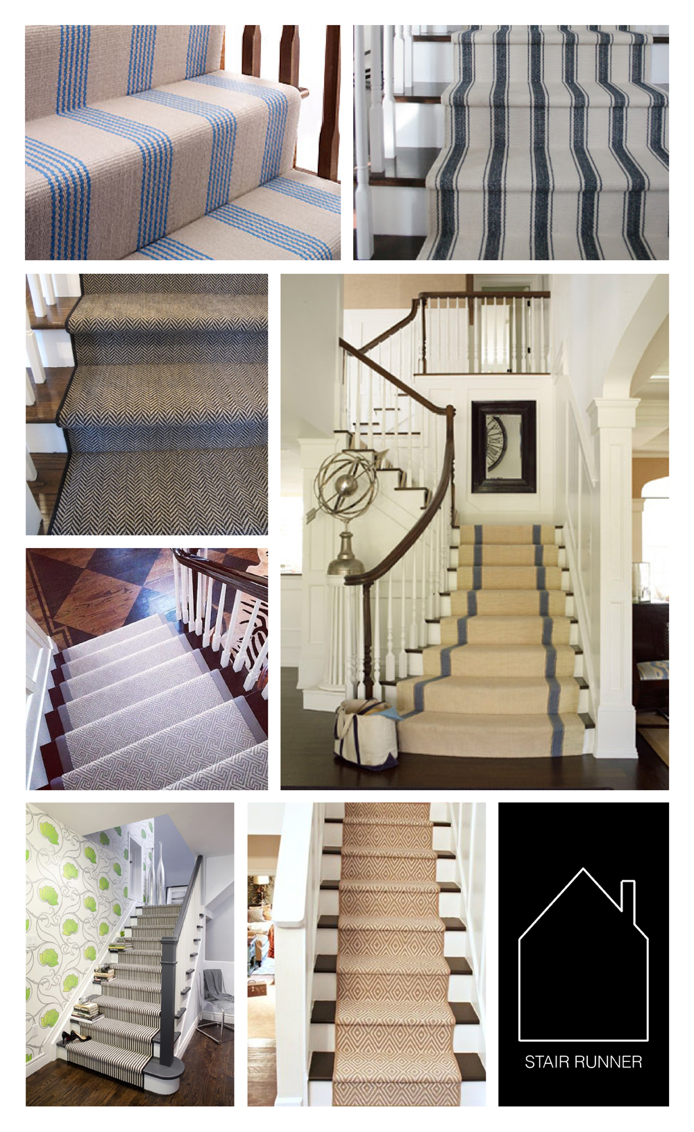from top left  kathmandu runner by blenheim carpets  dash  albert runnervia charming. stair runner — the place home