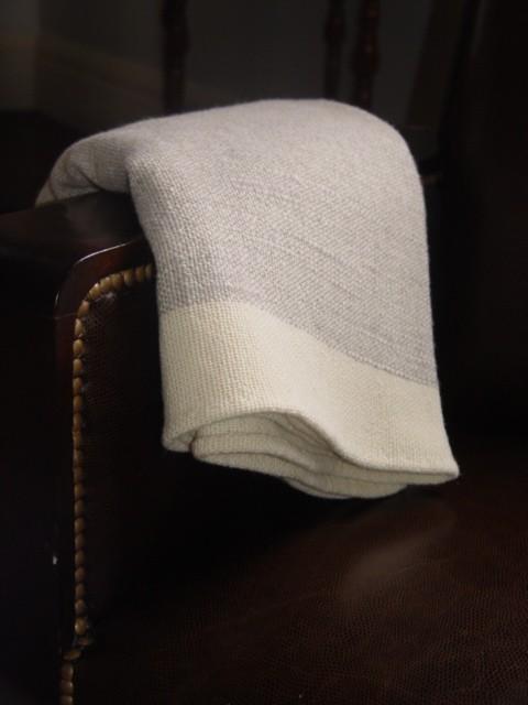 hand woven merino wool gray blanket