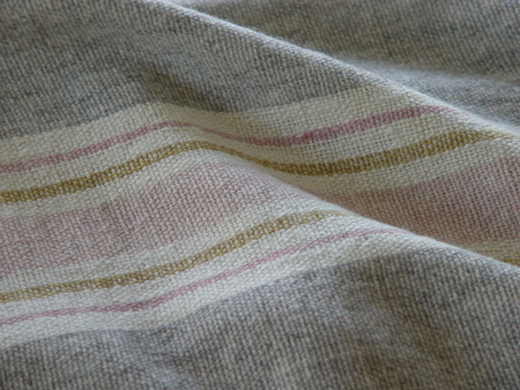 hand woven merino wool pink blanket