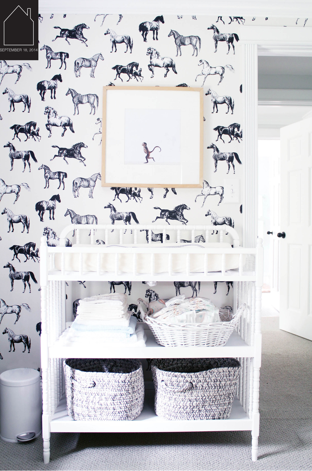 nursery by Carla Fahden via  Wit & Delight