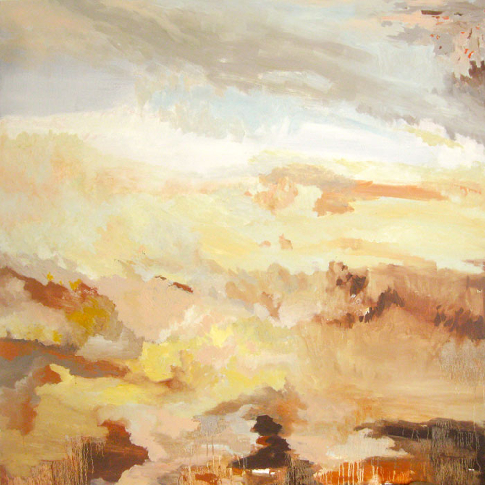 "Erin Lynn Welsh - Pink Storm (2011) - 48"" x 48"" - Oil on Canvas"