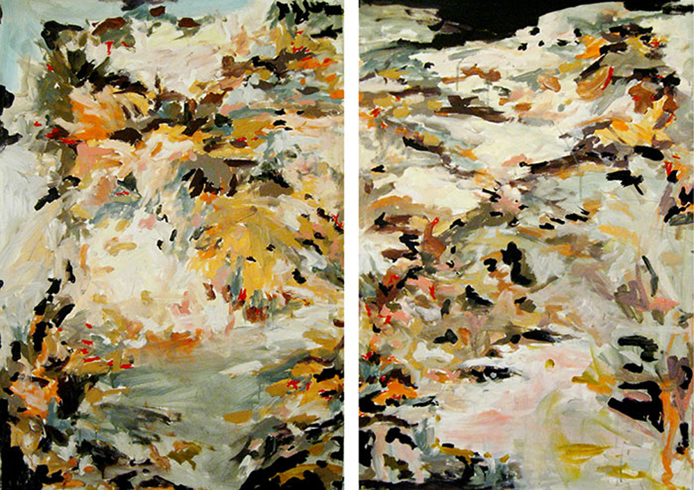 "Erin Lynn Welsh - Save Yourself (2012) - 30"" x 44"" - Oil on Paper"