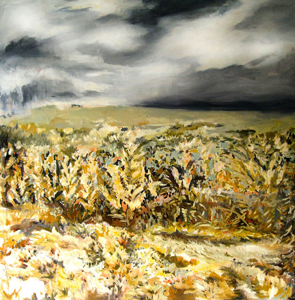 "Erin Lynn Welsh - The Last Goodbye, I Swear (2011) - 72"" x 72"" - Oil on Canvas"