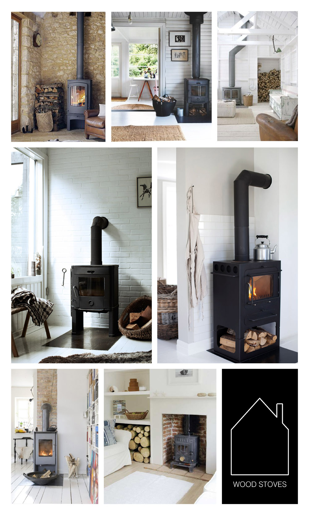 from top left - source unknown - design by Nicoline Olsen via Bolig Magasinet - source unknown - styling by Hilary Robertson via REMODELISTA - via Sugar & Charm - via Mechant Studio - via House to Home