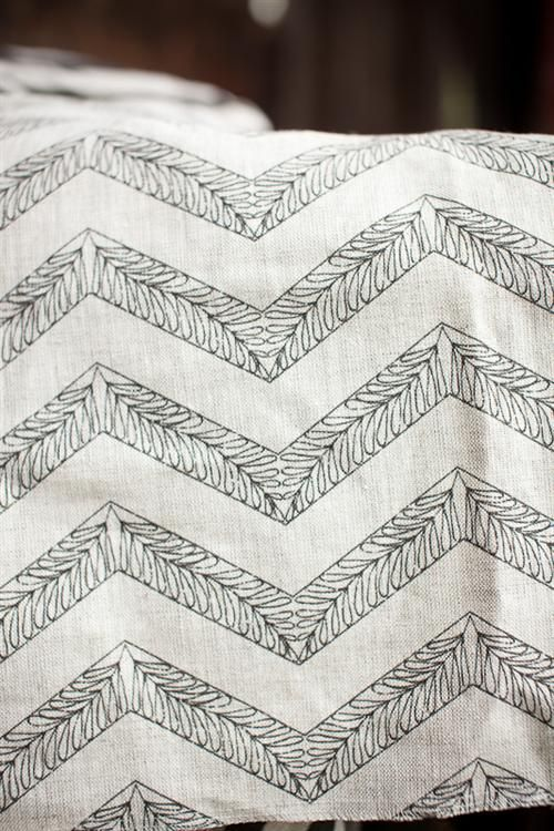 Filigree Chevron original textile